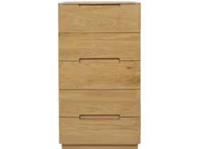 Forma Oak 5 Drawer Slim Chest