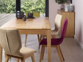 Forma Oak 1.4m Extending Dining Table