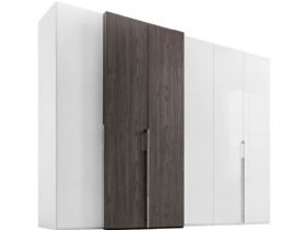6 Door Wardrobe with Left-hand Storage Doors