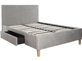 5'0 King Size Bedframe With 2 Drawers