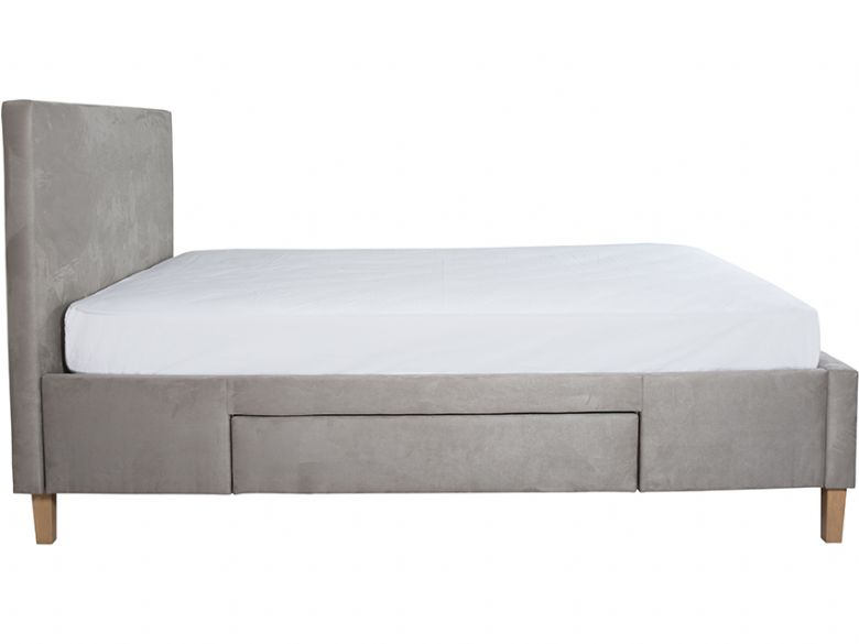 Elama 5'0 King Size Bedframe With 2 Drawers