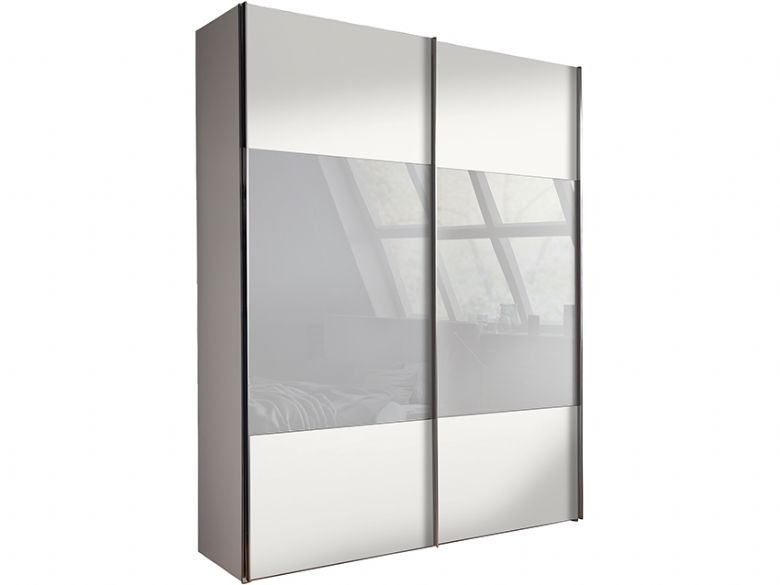 250cm 2 Door Sliding Wardrobe with Chrome Handles