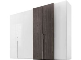 6 door wardrobe with right hand storage doors