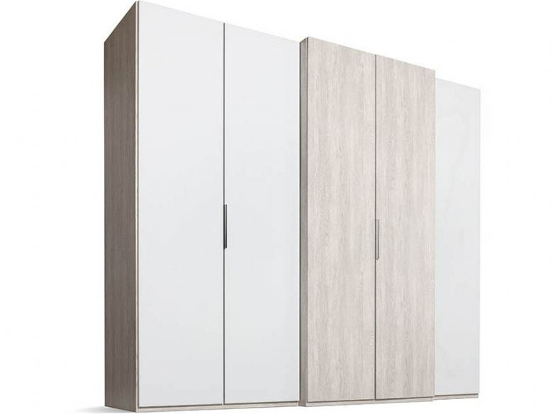 230 5 Door Right-hand Storage - Polar White/Platinum Oak Front, Platinum Oak Body