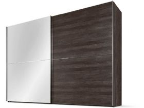 310 Sliding Wardrobe 320cm - Fango Glass Front, Frosted Terra Body