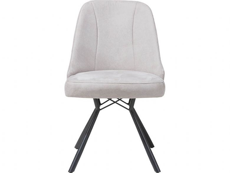 Calm Light Grey Dining Chair Front