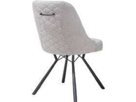 Calm Light Grey Dining Chair Back