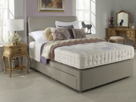 4'0 Small Double Open Coil Firm Edge Divan Set