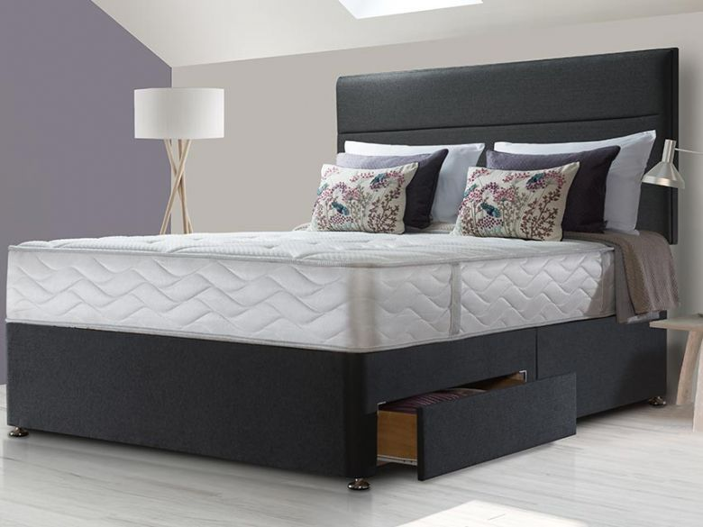 Sealy Sapphire Latex Superior king size mattress and divan available at Lee Longlands