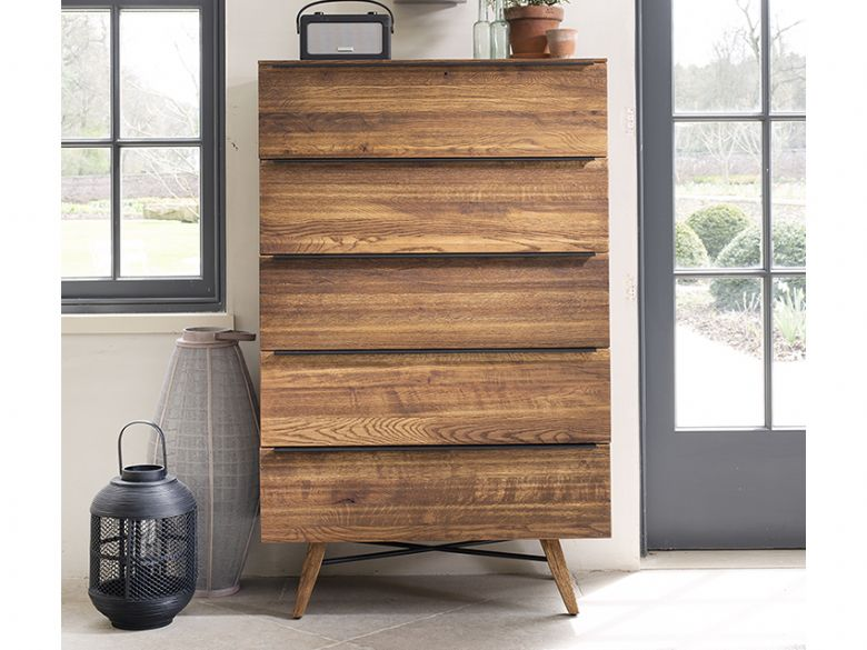 Columbia 5 Drawer Tall Chest