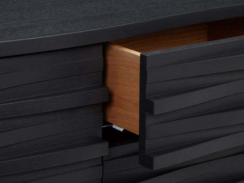 Content by Conran Wave Sideboard charcoal finish