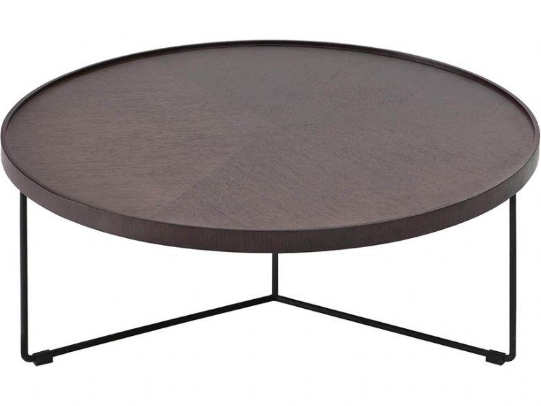 Natuzzi Editions Dominus Smoked Oak Wood Coffee Table Lee Longlands