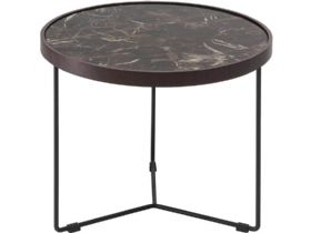 Emperador Marble Corner Table