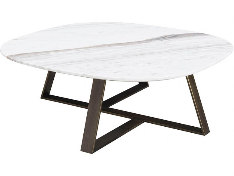 Natuzzi Editions Nico Jazz White Marble Square Coffee Table
