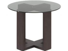 Smoke Glass Corner Table