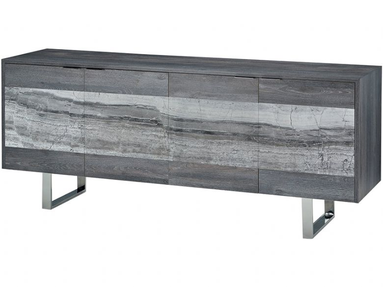 Hansetta grey stone 4 door sideboard available at Lee Longlands