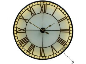 Large Backlit Glass Westminster Wall Clock