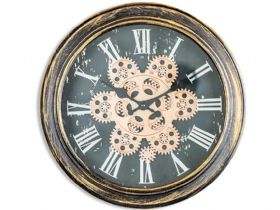 Antique Black & Gold Wall Clock