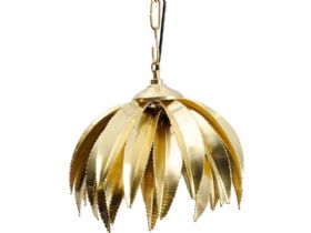 Polished Brass Palm Tree Pendant