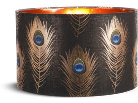 Peacock Feather Floor Lamp Shade