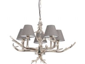 Nickel Antler Chandelier