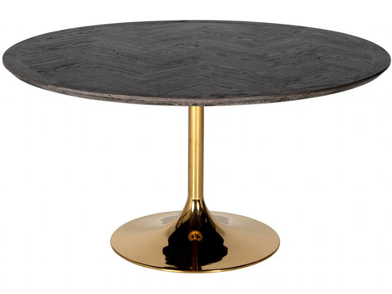 Savoy Gold Round Dining Table