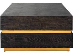 Savoy Gold Rectangular Block Coffee Table Side