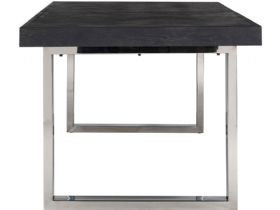 Savoy Silver 195cm Extending Dining Table Side