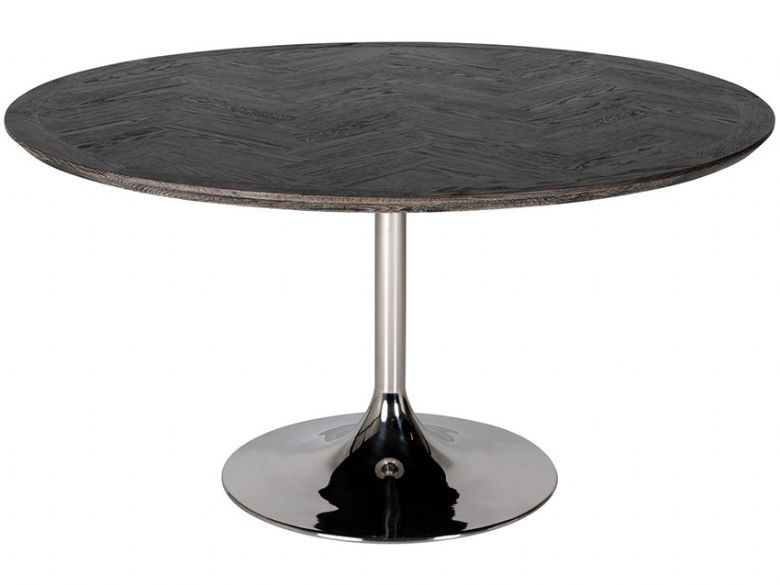 Savoy Silver Round Dining Table