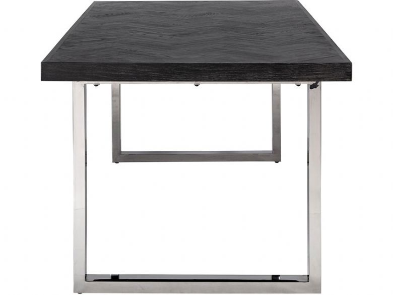 Savoy Silver 220cm Dining Table Side