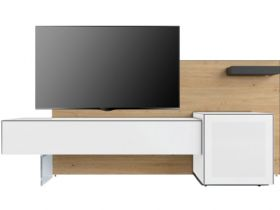 Connect High White Glass Front TV Unit