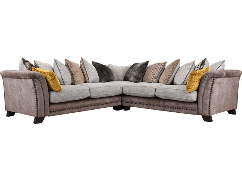 Chantelle large fabric corner sofa