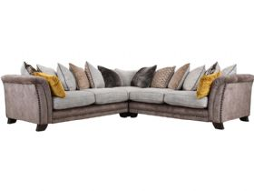 Large Fabric Corner Sofa