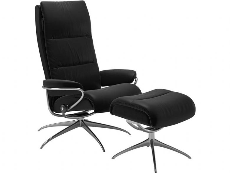 Stressless Tokyo High Back Recliner Chair with Footstool