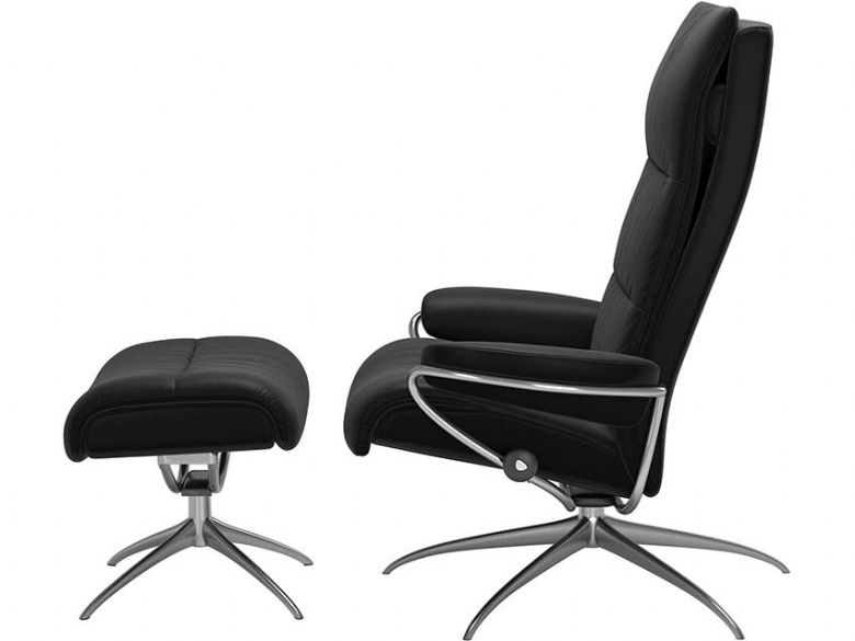 Stressless Tokyo Recliner Chair and Stool Profile
