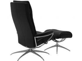Stressless Tokyo Recliner Chair and Stool Back
