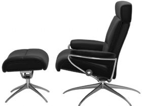Recliner Chair & Stool - Adjustable Headrest Profile