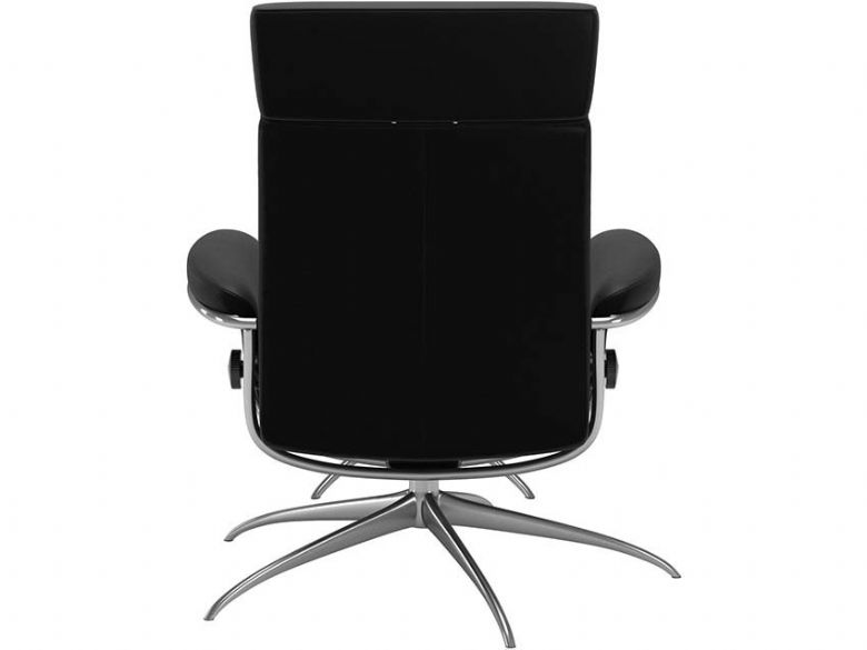 Recliner Chair & Stool - Adjustable Headrest Back