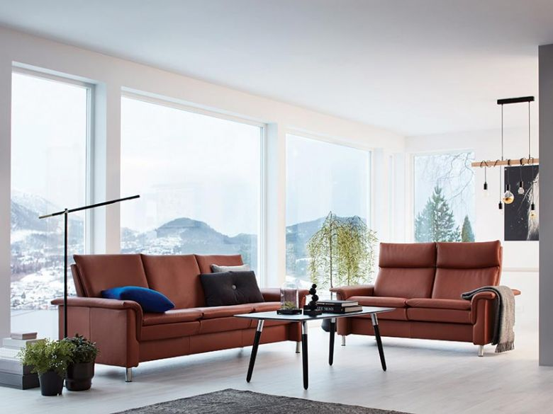 Stressless Aurora sofa in Paloma Copper leather