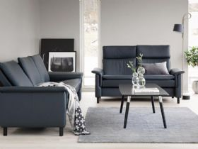 Stressless Aurora sofa range available in a variety of leathers and fabrics