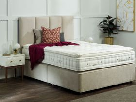 4'0 Small Double Platform Top Divan & Mattress