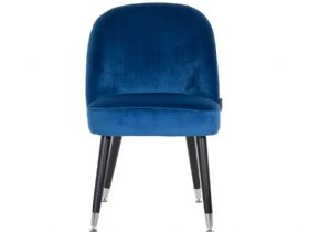 Knightsbridge Blue Dining Chair with Steel Feet