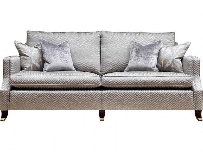 Duresta Amelia fabric grey grand sofa available at Lee Longlands