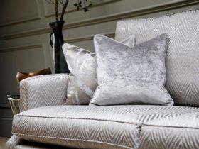 Duresta Amelia grey fabric large sofa available at Lee Longlands