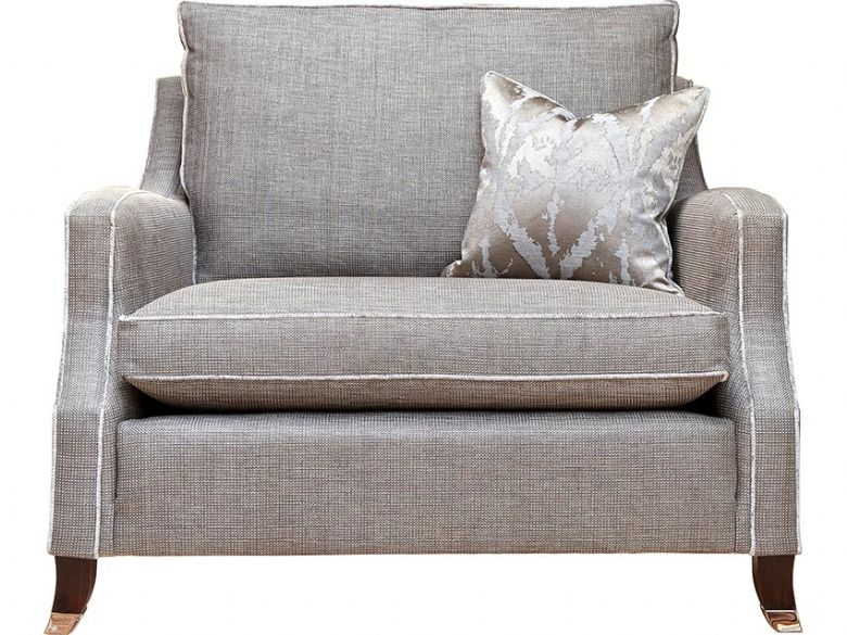 Duresta Amelia fabric grey reading chair available at Lee Longlands