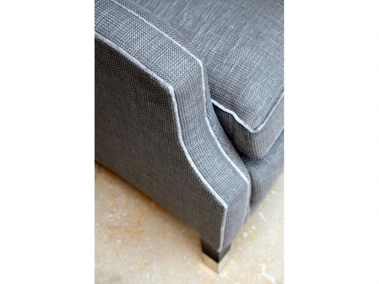 Duresta fabric grey snuggle chair finance options available