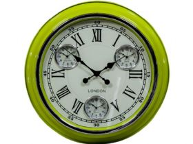 Retro Lime Green London Wall Clock
