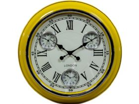 Retro Yellow London Wall Clock