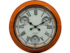 Retro Orange London Wall Clock