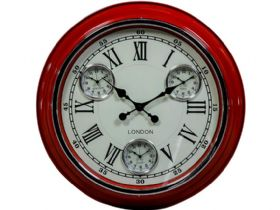 Retro Red London Wall Clock